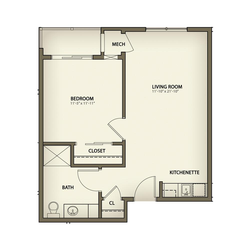 550 Square Feet Floor Plan Bloor St Neighbourhood 35