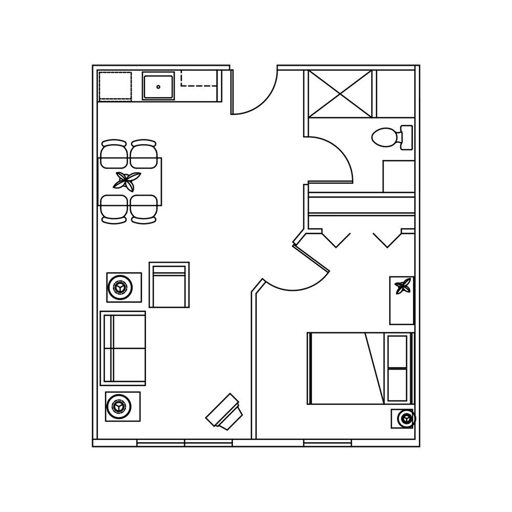 assisted living in mecosta michigan retirement living 1 bedroom floor plan