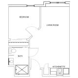 Floor Plans - 1 Bedroom Deluxe