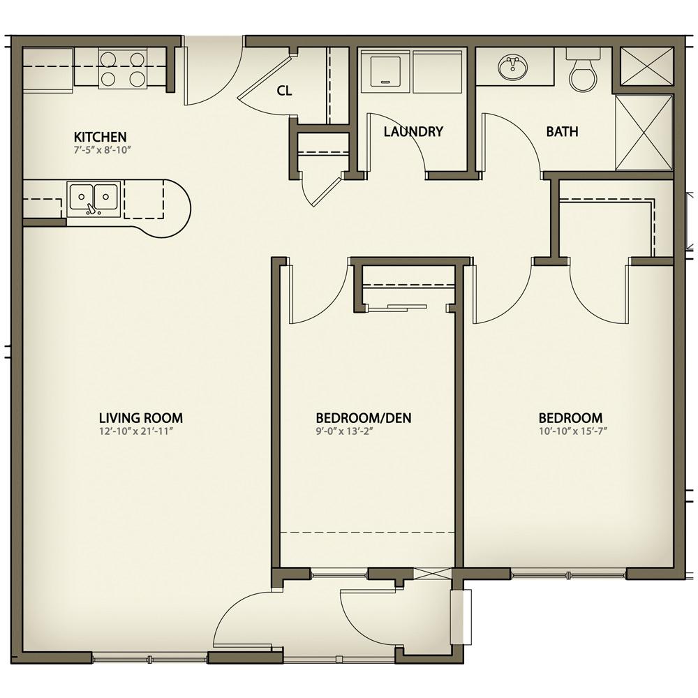 Senior independent living in muskegon retirement living for 2 bedroom retirement house plans