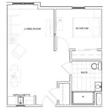 Floor Plans - 1 Bedroom